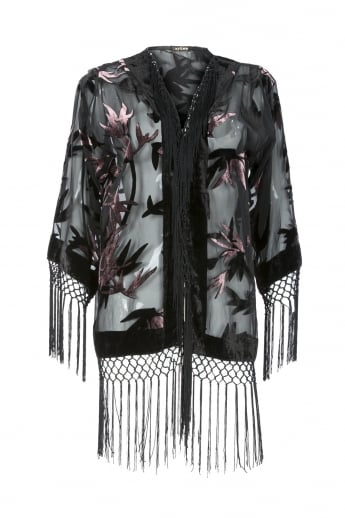 Silk Devore Short Jacket