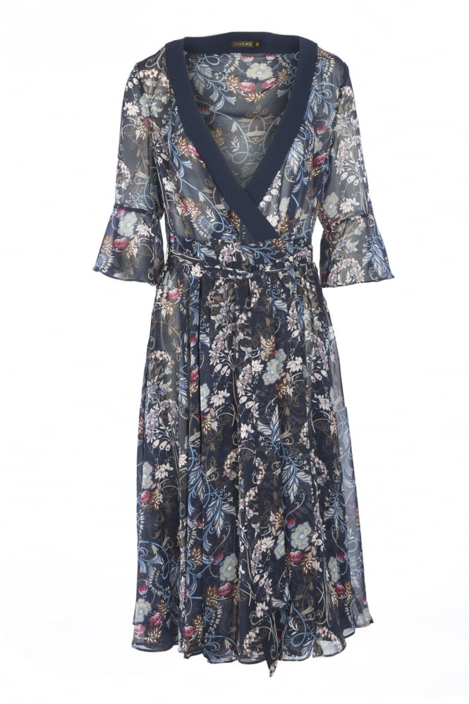 JAYLEY Silk Floral Dress