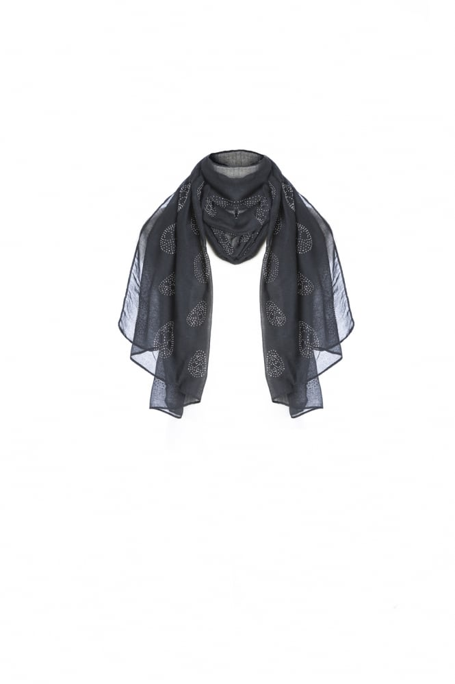 JAYLEY Silk Patterned Chiffon Scarf