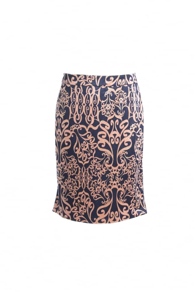 JAYLEY Silk Patterned Skirt