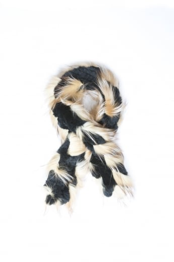 Silver Fox and Coney Fur Scarf