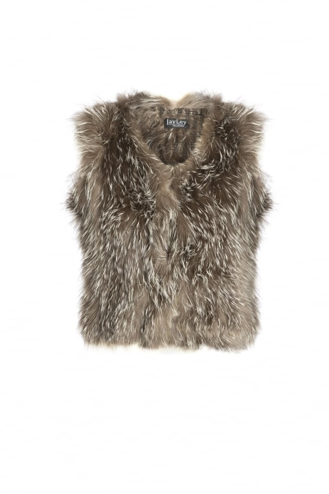 JAYLEY Silver Fox Fur Gilet