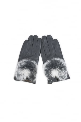 soft Leather Gloves with Fur Finish
