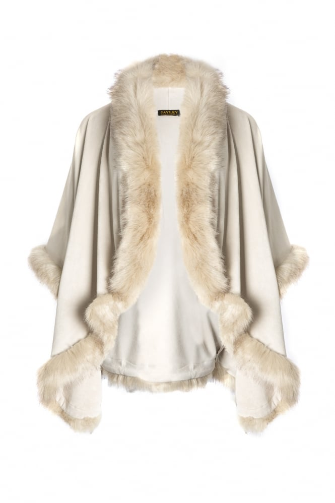 JAYLEY Suedette and Faux Fur Jacket