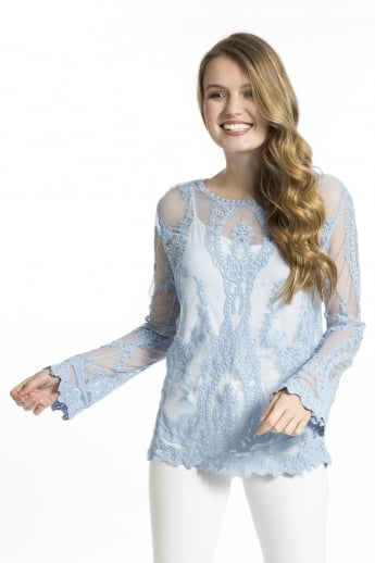 Vintage Lace Long Sleeved Top