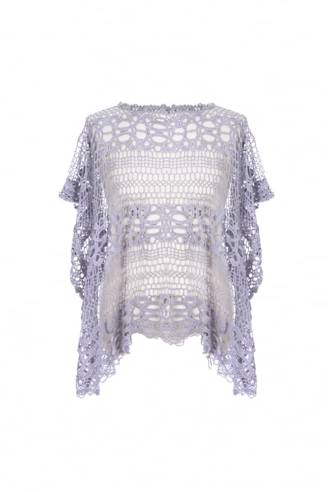 JAYLEY Vintage Lace Top with Fringing