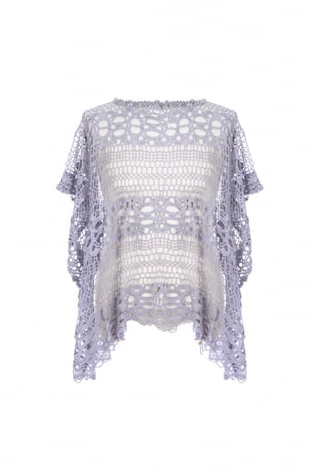 Vintage Lace Top with Fringing