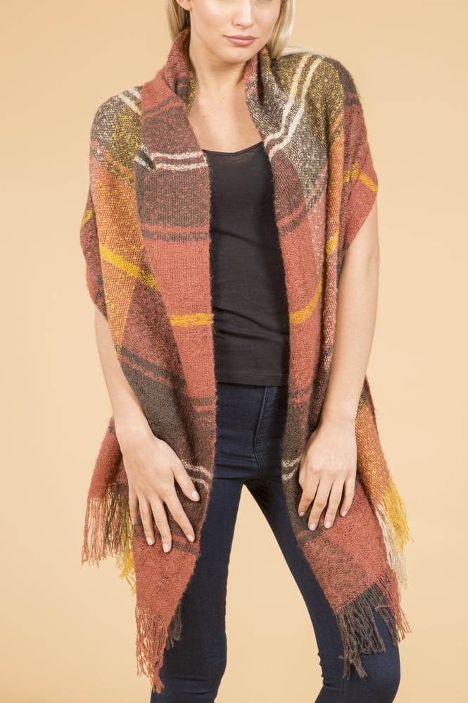 JAYLEY Wide Cashmere Wrap