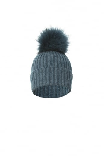 Wool and Fur Pom Hat