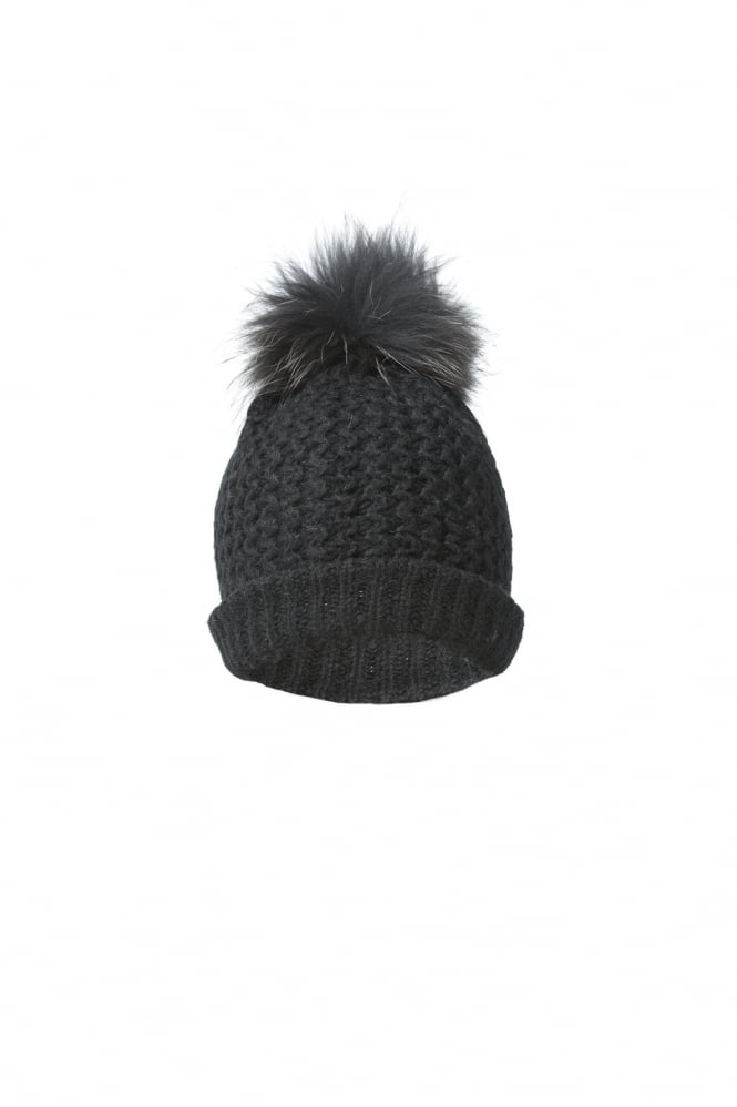 JAYLEY Wool And Fur Pom Hat