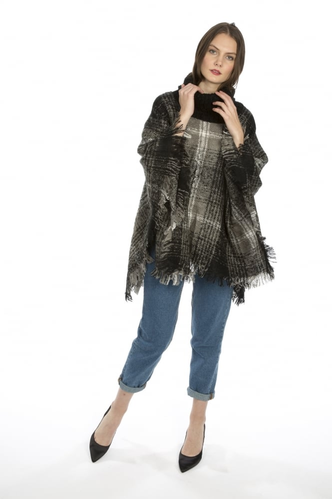 JAYLEY Wool Blend Poncho